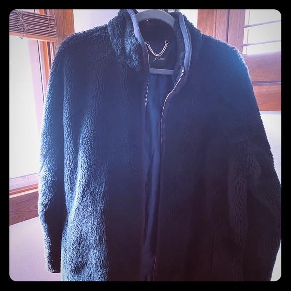 JCrew faux fur coat